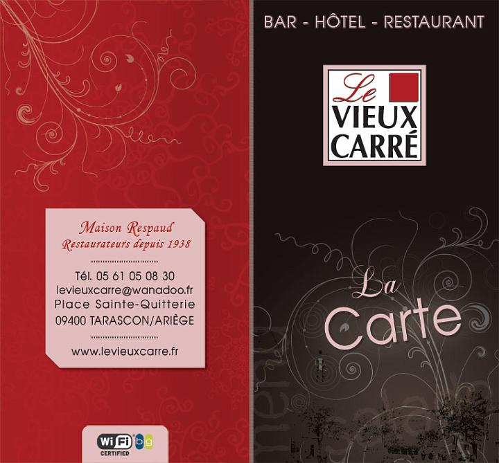 Cartes menu restaurant
